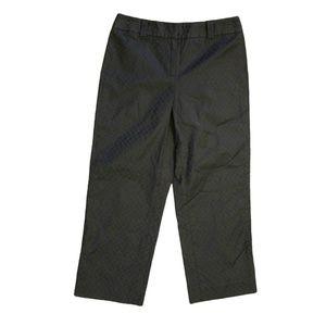 Anne Klein Riviera Black Capri Cropped Pants 2P